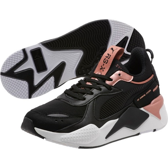 Puma Shoes | Rsx Trophy Black And Rose